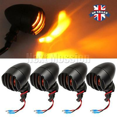 4x LED Motorcycle Indicators Motorbike Turn Signals front rear amber Light Bulb