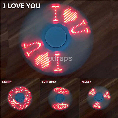 LED Flash light Fidget Hand Spinner Finger Toy EDC Focus Gyro Toy With Switch