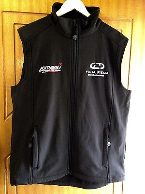 Black Plus size equestrian soft shell riding vest size L (ladies 18)