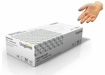 Unigloves Powder Free SOFT VINYL Latex Free Food Safe Gloves Quantities