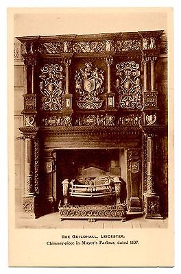 Postcard - The Guildhall, Leicestershire. - overstamped