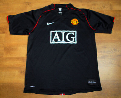 Nike Manchester United 2007-2008 away shirt (Size L )
