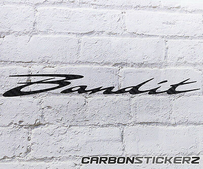 2x Suzuki Bandit Carbon Fibre Effect Vinyl Decal/Sticker Bellypan,Tank,Fairing