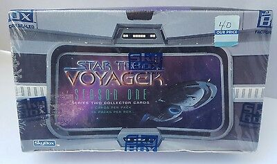 Star Trek Voyager Season One 1 Series Two 2 Collector Cards Sealed Box Sky Box