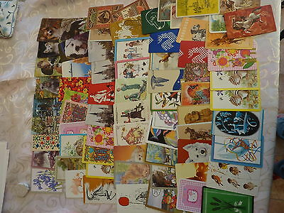 Large Lot #3 Horses Birds Dogs Etc Variety Genuine Vintage Swap Playing Cards