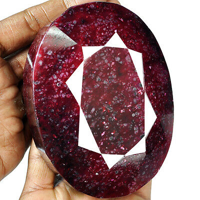 Certified 3615Ct Natural Huge African Pigeon Blood Red Ruby Oval Museum Size Gem