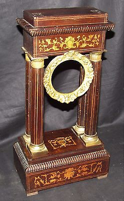 Fine Quality 19th Century Inlaid Portico Clock Case