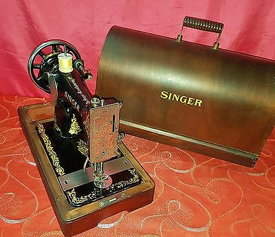 Antica macchina cucire Singer 128k del 1913 old sewing machine