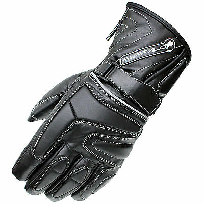 Buffalo Arctic Leather Waterproof Winter Thermal Motorbike Motorcycle Gloves