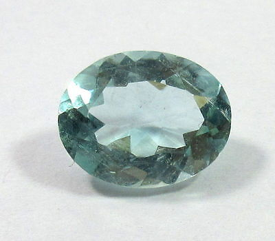 1Piece 3.30CT Natural Aquamarine Loose Gemstone 12x9.4mm Oval Cut S95