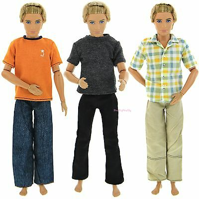 3 Sport Fashion Doll Clothes Casual Wear Jackets Pants Outfit For Barbie Ken G1D