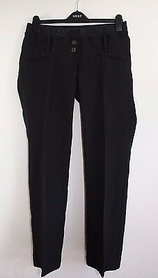 Women's Maternity, Size 10, New Look, Under The Bump Straight Cut Black Trousers