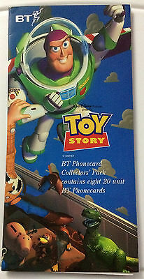 Disney Toy Story BT Phonecard Collector's Pack contains 8 Cards