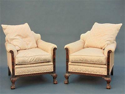 Pair of Armchairs Chairs Mahogany Ball & Claw