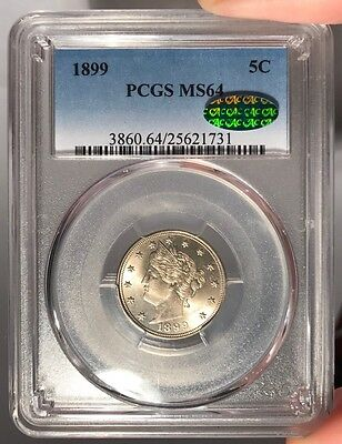 1899 5c PCGS MS 64 CAC Liberty Nickel
