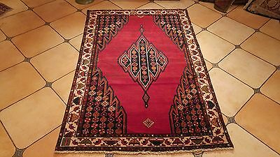 Hand Knotted Antique Old Mazlaghan 4.2x6.4ft W149
