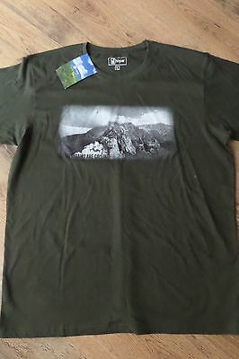 """Mens Hi Gear T Shirt """"the Mountains Are Calling"""" Xl Green - Brand New! Bargain!"""