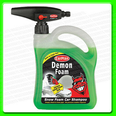 Car Plan Wash Snow Foam Shampoo 2 Litre With Gun  [CDW200] Demon Shine