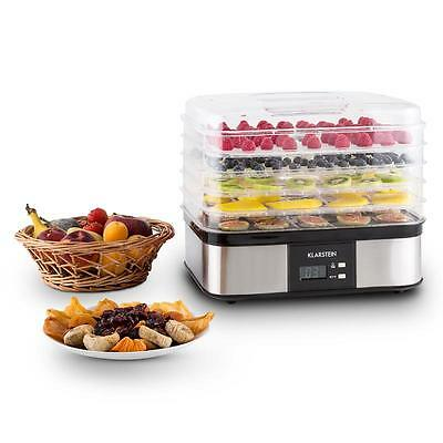 Professional 5 Tier Food Preserve Dehydrator Stainless Steel * Free P&p Uk Offer