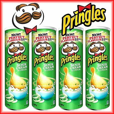 4x Pringles Sour Cream & Onion in der Dose á 165g=660g Stapel Chips MHD:17.07.18
