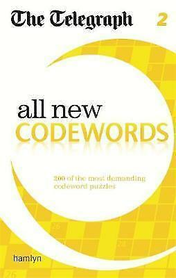 The Telegraph: All New Codewords 2 (The Telegraph Puzzle Books),New Condition