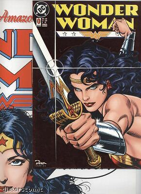 WONDER WOMAN (deutsch) # 0 METALLIC FOIL + POSTER - DINO VERLAG 1998 - TOP