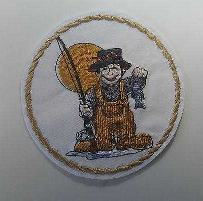 Fishing Fabric Cloth  Patches Badges , Ideal Present,.SEW or IRON On