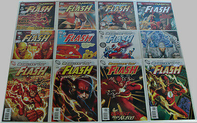 The Flash: Brightest Day #1-12 Variant Set Geoff Johns Manapul Complete Set