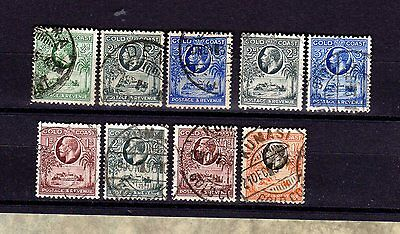 GOLD COAST Postally Used Stamps LOOSE Unhinged GEORGE V (9)