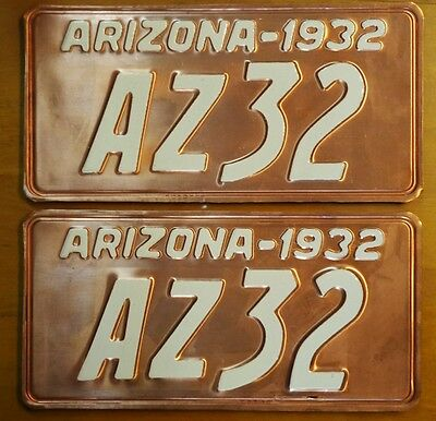 Reproduction .....1932 Arizona  License plates, PAIR, read desc.