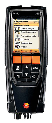 Testo 320 (0563.3220.70) Combustion Analyzer Kit with Color Display