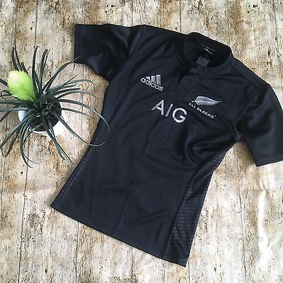 Adidas Rugby Shirt All Blacks NEW ZEALAND Size XS Excellent Condition