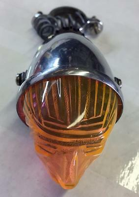 new old stock vintage INDIAN HEAD LIGHT bicycle motorcycle ORANGE