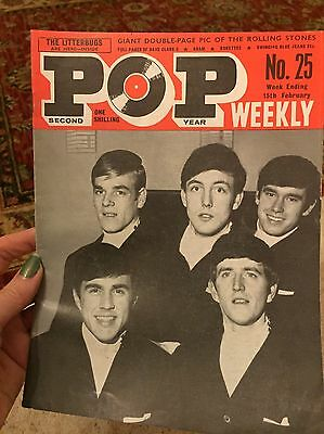 Vintage Pop Weekly Music Magazine 2nd Series No. 25 1964 Dave Clark Five VGC
