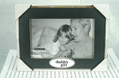 """DADDY'S GIRL FRAME MALDEN~4"""" x 6"""" OPENING~NEW BLACK PHOTO~FREE US SHIPPING~"""