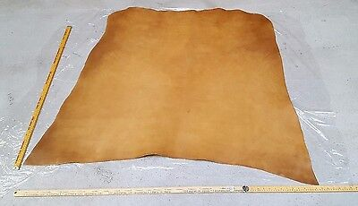 Brown Italian Leather Hide 2.4mm thick  1.3m2 - 1.5m2