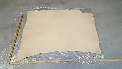 Natural (Cream) Italian Leather hides 1.3m2 -1.5m2 2.4mm thick
