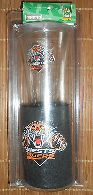 Wests Tigers NRL Rugby League Glass + Stubby Holder Set. Brand new + sealed.
