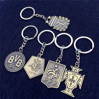 Liverpool Spain MUFC Germany Football Alloy Key chain Calcio Milan Soccer Club