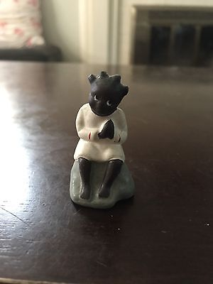 Vintage Black Americana Figurine Hand Painted In Occupied Japan