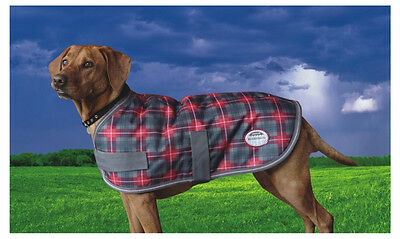 SALE!! Weatherbeeta Landa Dog Rug Coat Crimson Plaid Waterproof