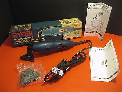 Ryobi DS1000 DETAIL SANDER tool w/ Manual & Box ~ appears NEVER USED!