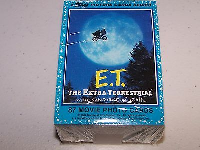 1982 Topps E.T. Trading Card & Sticker Set (87 Cards & 11 Stickers) Ex/MT - NM