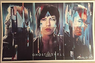 (2017) GHOST In The SHELL Cinemark Exclusive 11 x 17 Promo Movie Poster