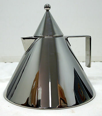 Alessi Il Conico Tea Kettle Stainless Steel Aldo Rossi 1985 - Original Box