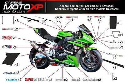 KIT Stickers decal moto compatible with Kawasaki Zx10-R 2008 2010 SB10