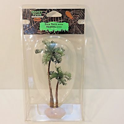 Lemax Spooky Town Halloween 2008 PALM TREES, MEDIUM 7 Inch Tall, Unopened Pkg