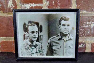 Don Knotts Signed 8x10 B&W Photograph Framed With Andy Griffith