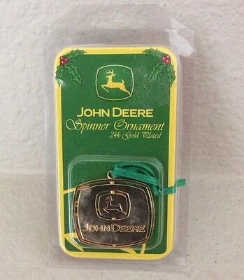 NEW JOHN DEERE 24K GOLD PLATED SPINNER ORNAMENT by MOTORHEAD PRODUCTS
