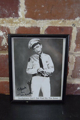 Don Knotts Signed 8x10 B&W Photo Framed Gunfighters Don't Get Paid By The Bullet